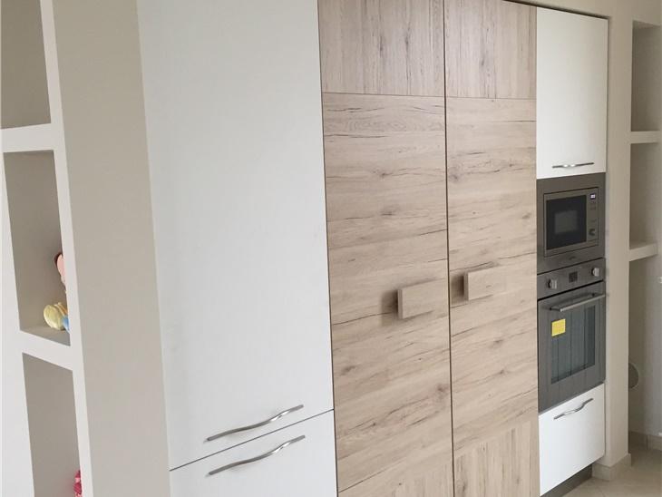Cucina moderna in rovere + bianco