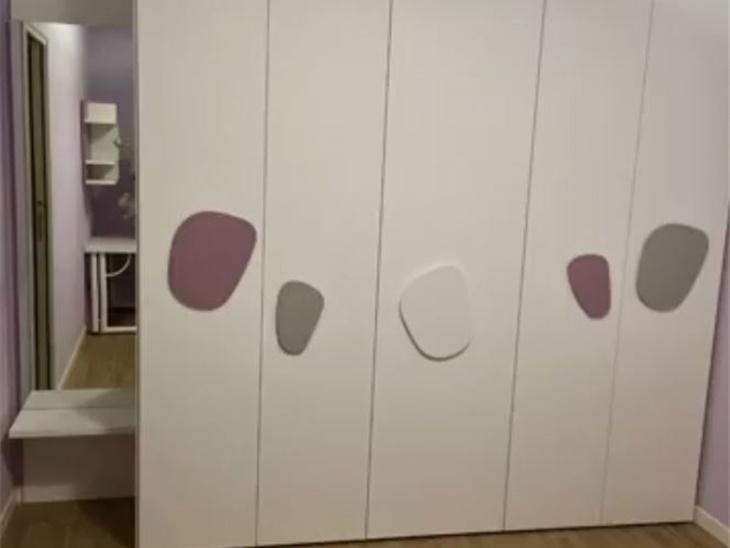 armadio componibile con maniglie stone